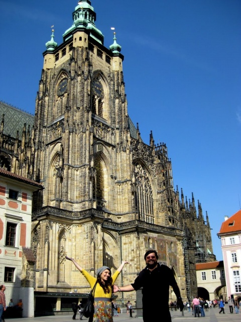 Dad & Tiff at Prague Castle!