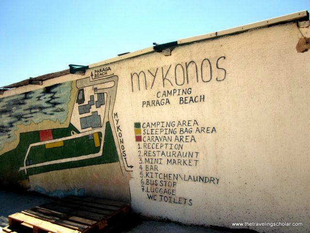 Camping in Mykonos