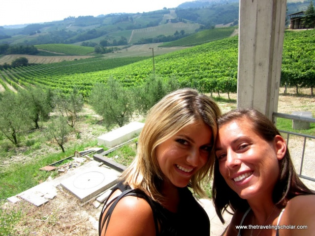 Wine pairing in San Gimignano, Italy