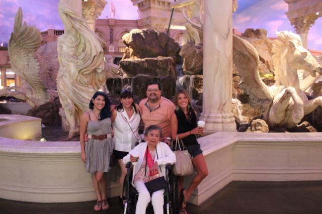 At Caesar's Palace in Las Vegas
