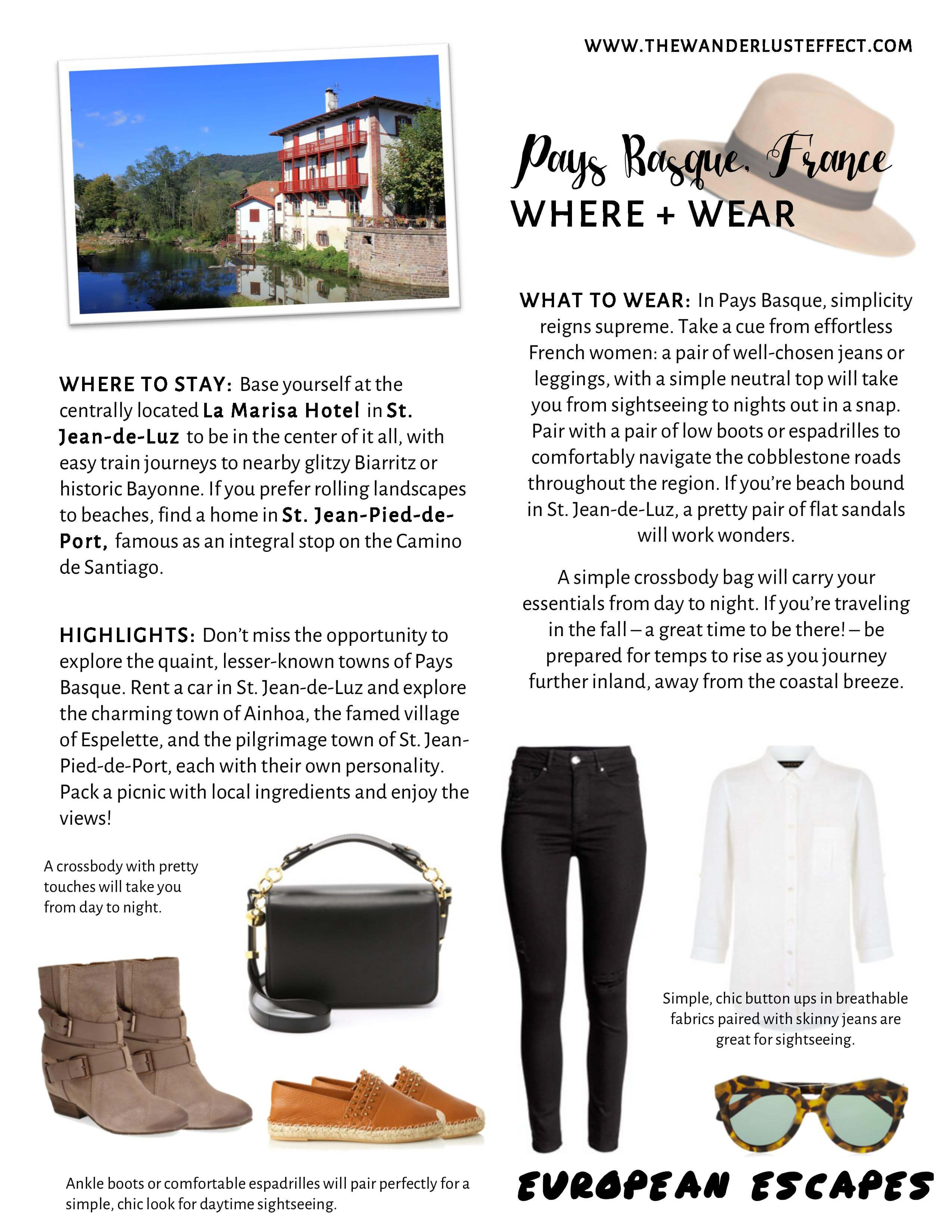 Pays Basque Travel Style - The Wanderlust Effect