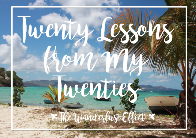 Twenty Lessons from My Twenties