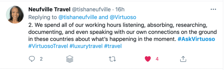 #AskVirtuoso, Virtuoso Travel