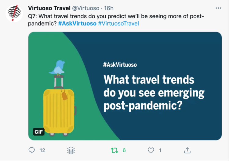 Q7: What travel trends do you predict we'll be seeing more of post-pandemic? #AskVirtuoso #VirtuosoTravel